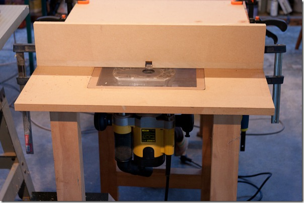 More photos of ipad stand construction once around the block this is my simple home made router table an acrylic plate screws onto the base of the router and sits in a recess in the table greentooth Image collections